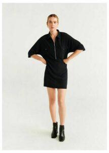 Zipper shirt dress