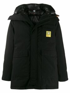 Brumal x Sacai hooded down parka coat - Black