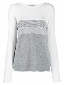 D.Exterior two tone fine jumper - Grey