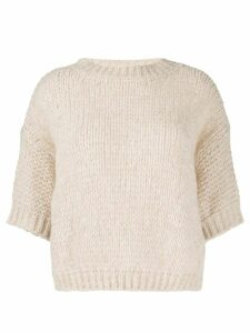 Roberto Collina cable knit wool jumper - Neutrals