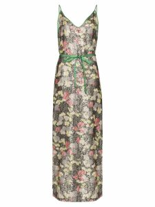 One Vintage floral print maxi-dress - Multicolour