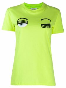 Chiara Ferragni appliqué logo T-shirt - Yellow