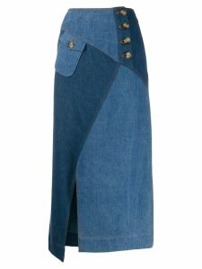 Rejina Pyo panelled denim skirt - Blue