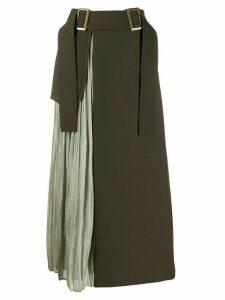 Rejina Pyo buckle belted skirt - Green