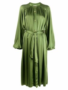 Forte Forte satin shirt dress - Green