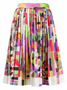 Missoni digital print pleated skirt - White