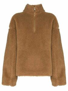 Jil Sander shearling sweatshirt - Brown