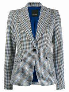 Pinko slim-fit houndstooth blazer - White