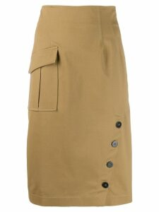 Pinko high waisted panel skirt - Neutrals