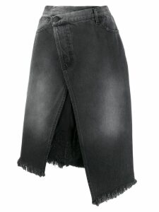 Pinko asymmetric denim skirt - Black