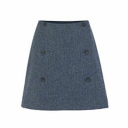 British Tweed Mini Wrap Skirt