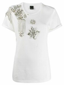 Pinko crystal stone embellished T-shirt - White