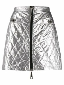 Pinko metallic quilted mini skirt - Silver