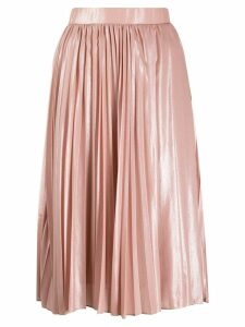 Pinko pleated midi skirt - NEUTRALS