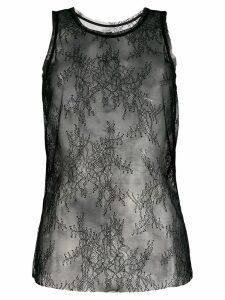 Pinko sleeveless lace top - Black