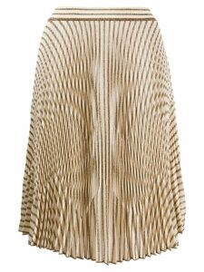 Missoni glitter stripe pleated skirt - Neutrals