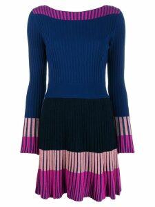 Pinko contrast panel short dress - Blue