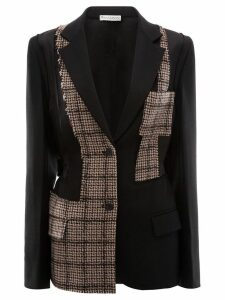 JW Anderson patchwork tailored jacket - Black