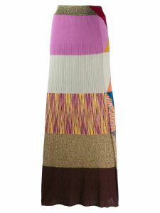 Missoni pattern mix knitted skirt - Purple