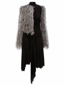 JW Anderson asymmetric fil coupe dress - Grey