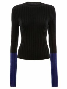 JW Anderson ribbed contrast sleeve sweater - Black