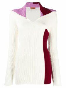 Missoni oversized collar jumper - White