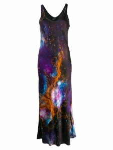 Pinko long space print dress - Black