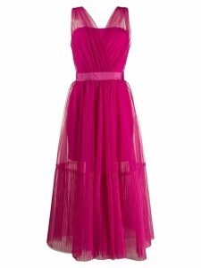Pinko sheer tulle midi dress