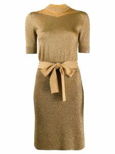 Missoni short-sleeve belted dress - Gold