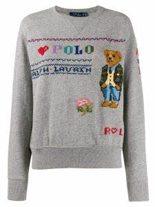 Polo Ralph Lauren Polo Bear embroidery sweatshirt - Grey
