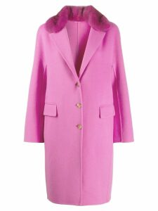 Ermanno Scervino fur collar coat - Pink