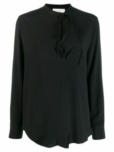 Incotex neck-tied blouse - Black