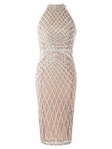 Rachel Gilbert Aryel beaded dress - Silver