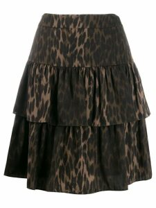 Steffen Schraut Luxury Animal skirt - Brown