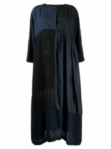 Daniela Gregis patchwork maxi dress - Blue