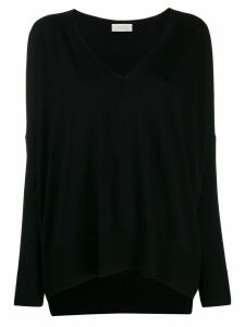 Zanone oversized long-sleeve sweater - Black
