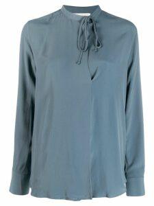 Incotex neck-tied blouse - Blue