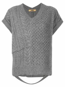 System loose-fit knitted top - Grey