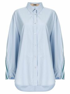 System oversized contrast shirt - Blue