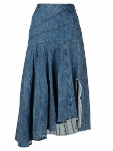 System asymmetric denim skirt - Blue