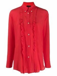 Jejia ruffle long-sleeve blouse - Red