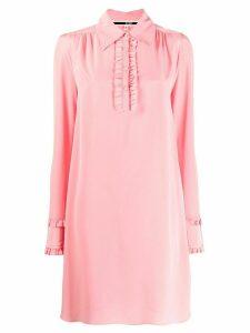 McQ Alexander McQueen ruffle trim dress - Pink