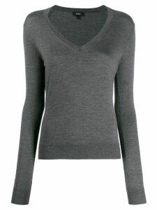 Theory V-neck jumper - Grey