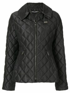 Dolce & Gabbana diamond quilt jacket - Black