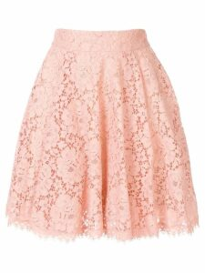 Dolce & Gabbana full scalloped lace skirt - Pink