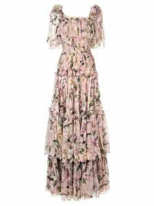 Dolce & Gabbana layered lilies dress - Pink