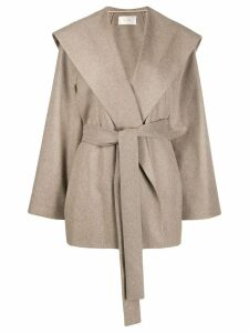The Row belted single-breasted coat - Neutrals