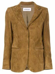 Sylvie Schimmel single-breasted fitted blazer - Brown