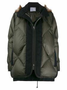 Sacai layered padded jacket - Green