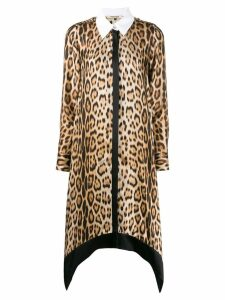 Roberto Cavalli leopard print shirt dress - Neutrals